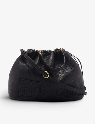 Sandro Olga leather bucket bag