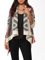Forever 21 Colorblocked Geo Cardigan