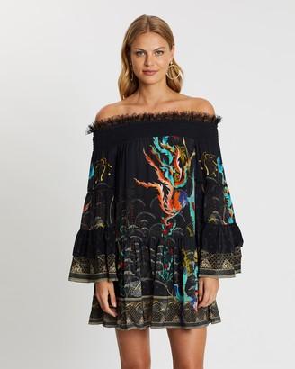Camilla Off-Shoulder Dress with Smocking