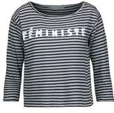 Kain Label Amelia Appliquéd Striped Stretch-Modal Top
