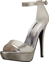Caparros Tasha Women Open Toe Synthetic Silver Platform Heel