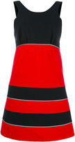 MAISON KITSUNÉ colour block mini dress - women - Cotton - 36