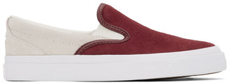 Converse Red Suede One Star CC Slip-On Pro Sneakers