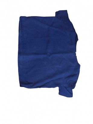 American Vintage Navy Linen Top for Women
