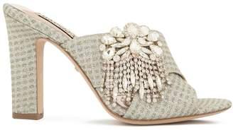 Badgley Mischka Farrah embellished sandals