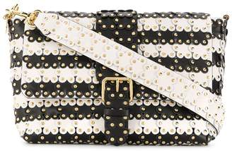 RED Valentino flower puzzle tote bag