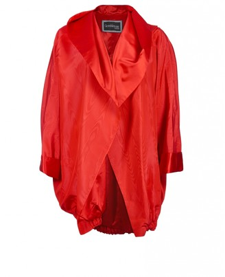 Gianni Versace Red Silk Jacket for Women Vintage