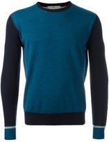 Canali contrast sleeve jumper
