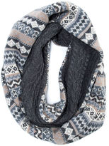 Muk Luks Fairisle Reversible Eternity Scarf