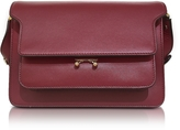 Marni Black Cherry Leather Trunk Bag