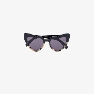 Saint Laurent Eyewear black New Wave Loulou heart sunglasses