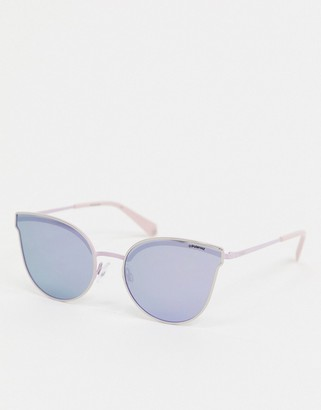 Polaroid wayfare sunglasses in lilac