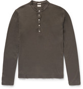 Massimo Alba - Hawai Cotton And Cashmere-blend Henley T-shirt