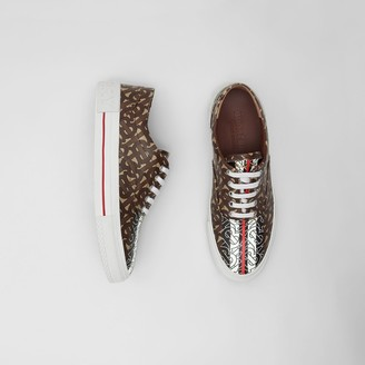 Burberry Monogram Stripe E-canvas Sneakers