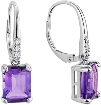Diamond Select Cuts 14K 3.99 Ct. Tw. Diamond & Amethyst Earrings