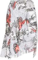 Marques Almeida Marques'almeida Cotton asymmetric skirt with belt