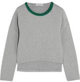 Vika Gazinskaya Cropped Quilted Stretch-Cotton Sweatshirt