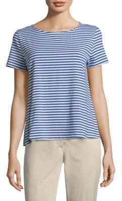 Max Mara Stripe Short-Sleeve Tee