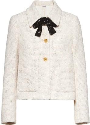 Miu Miu Tweed Cropped Jacket