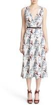 Nordstrom Women's Floral Print Silk Twill Dress