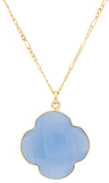 Quatrefoil Gemstone Pendant Necklace