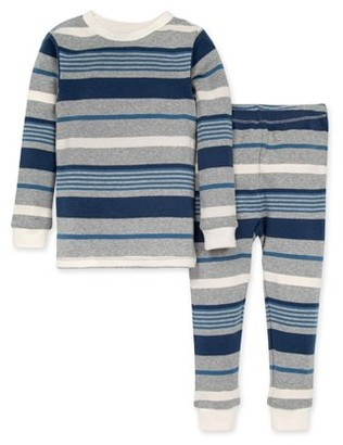 Burt's Bees Baby Toddler Boy Long Sleeve Snug Fit Organic Cotton Pajamas, 2pc Set
