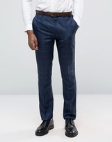 Original Penguin Formal Navy Check Suit Pants