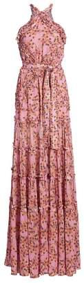 Alexis Genevra Floral Silk Gown