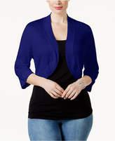 Jessica Howard Plus Size Shrug Cardigan