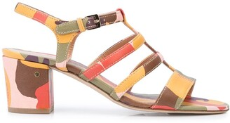 Laurence Dacade Abstract Print Sandals