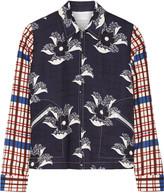 Victoria Beckham Printed crepe bomber jacket