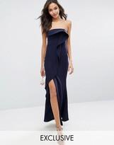 Jarlo Bandeau Frill Front Maxi Dress