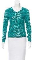 Diane von Furstenberg Tie-Dye Long Sleeve Cardigan