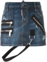 DSQUARED2 strap detail mini skirt