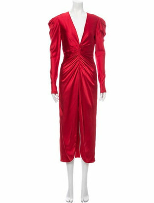 Jonathan Simkhai V-Neck Long Dress Red