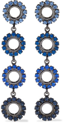 Elizabeth Cole Minka Hematite-plated Crystal Earrings