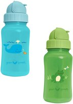 green sprouts by i play. Straw Bottle - Aqua/Green - 10 oz - 2 pk
