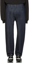 Juun.J Navy Loose-Fit Jeans