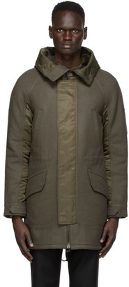 Yves Salomon   Army Yves Salomon - Army Grey and Green Wool Hunter Parka