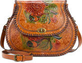 Patricia Nash Arezzo Painted Medium Saddle Bag