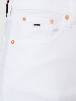 Tommy Jeans Izzy High Rise Slim Ankle Jeans - White