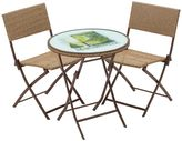 Margaritaville Hemmingway 3-Piece Outdoor Wicker Bistro Set in Brown
