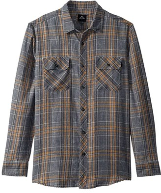 Rip Curl Stanley Flannel (Charcoal) Men's Clothing