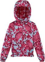 Moncler Girl's Pineapple Print Technique Jacket, Size 4-6