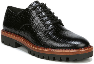 Vince Camilla Mock-Croc Oxford Loafers, Black