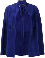 Manokhi - fringed trim cape - women - Calf Leather - 36