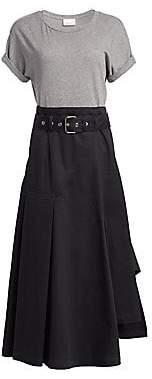 3.1 Phillip Lim Women's Short Sleeve Jersey Tee Dress