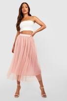 boohoo Tall Emily Boutique Tulle Mesh Midi Skirt