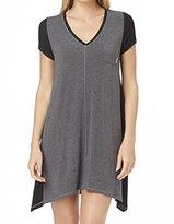 DKNY Women's Urban Essentials Short Sleeve Sleepshirt Black Nightgown