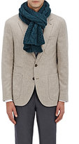 Barneys New York Men's Cable-Knit Wool-Cashmere Scarf-BLUE